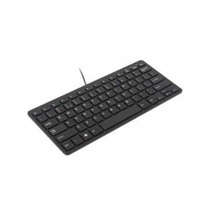 Ergo Compact Tastatur Schwarz QWERTZ