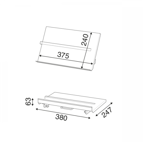 Metall  Konzepthalter mit Lineal – Dokumentenhalter