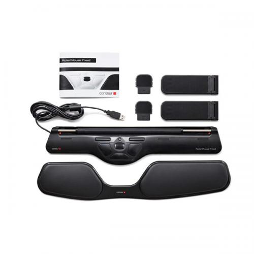 Rollermouse Free 2 Schwarz - ergonomische Maus