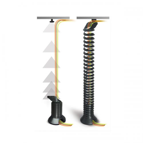 Kabelspirale Schwarz - kabelmanagement