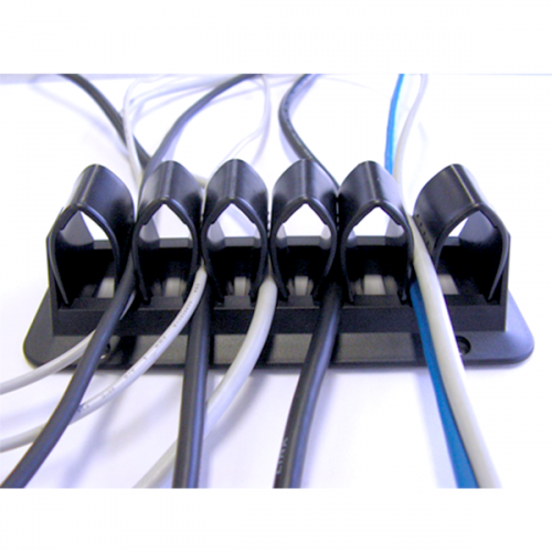 Kabelhalterung Schwarz - kabelmanagement
