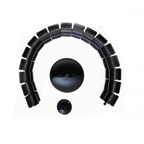 Kabelschlauch Schwarz Oval - kabelmanagement
