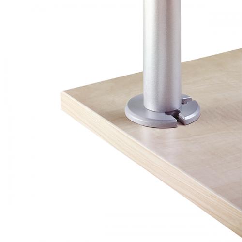 Rosetten Tischverbindung Silber - monitorarm