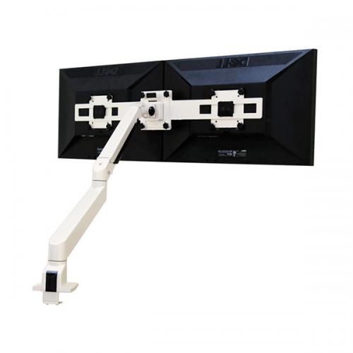 Devia Monitorarm Double Weiß 2 - 10 kg - monitorhalterung