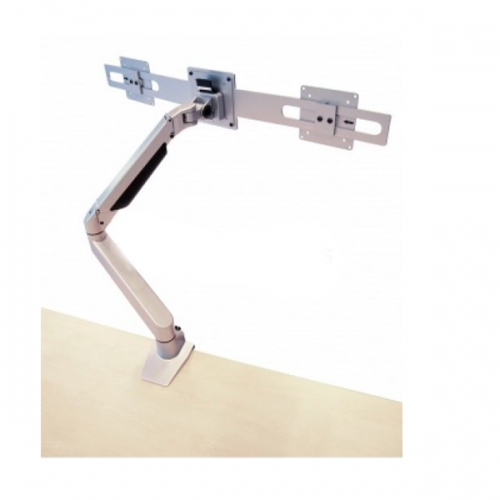 Devia Monitorarm Double Silber 2-10kg - monitorhalterung