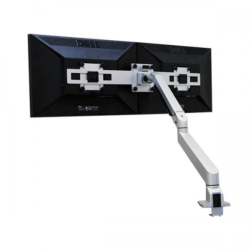 Devia Monitorarm Double Silber 9-21kg - monitorhalterung