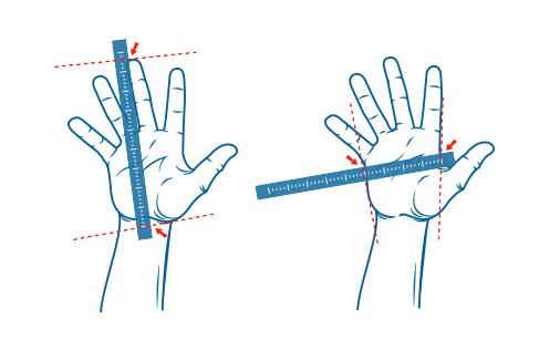 Hoe meet ik mijn hand?